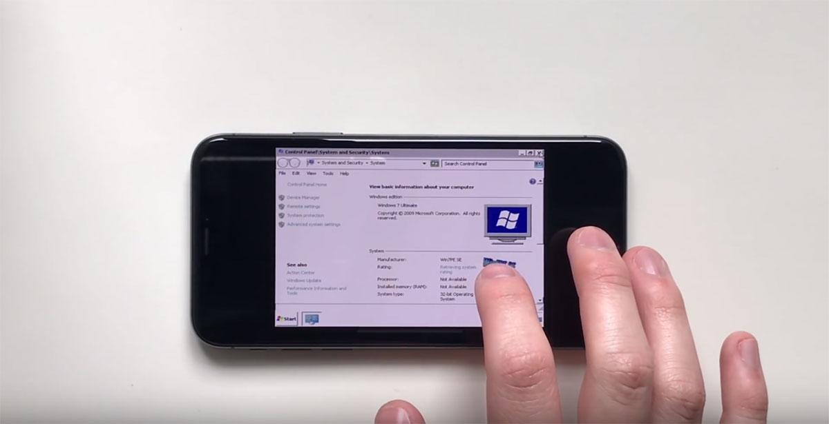 Apple's iPhone X Hacked To Run Microsoft's Windows 7 [Video