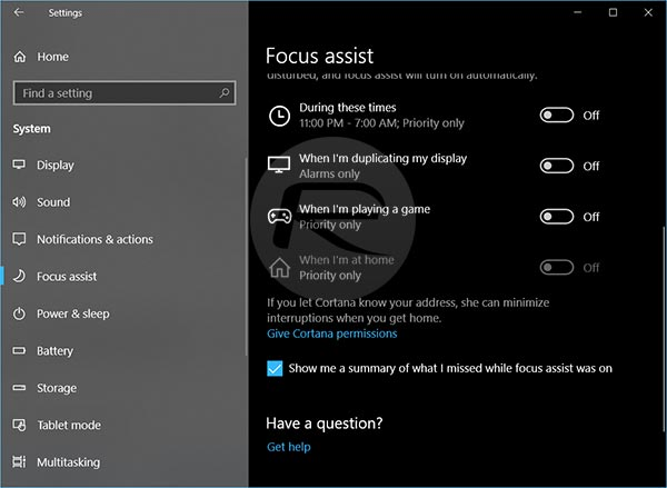 Disable Windows 10 Focus Assist To Fix Alt+Tab Lag Issue In Gaming