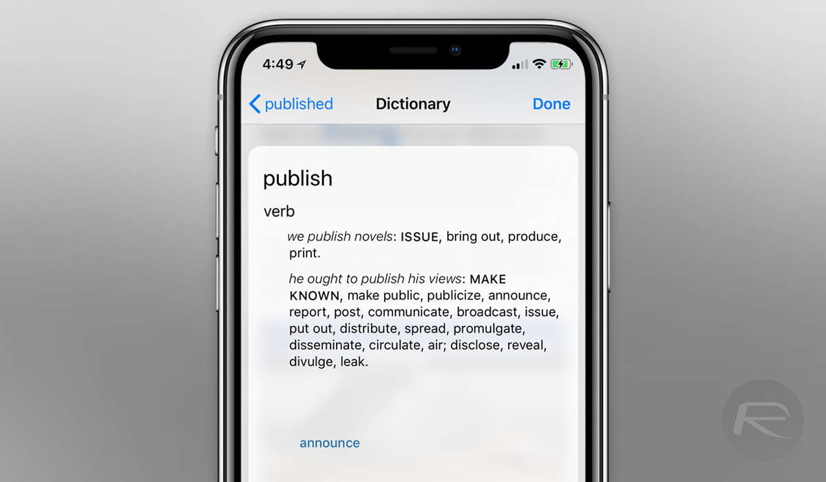Enable And Use iOS 12 English Thesaurus Feature On iPhone Or iPad, Here's  How