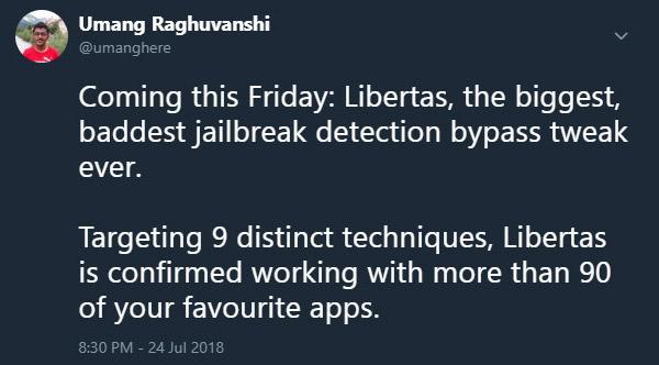 iOS 11 3 1 Jailbreak Detection Bypass App Libertas Works For 90+