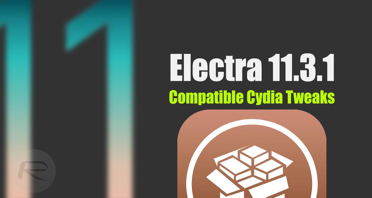 iOS 11 3 1 Compatible Jailbreak Tweaks On Cydia For Electra