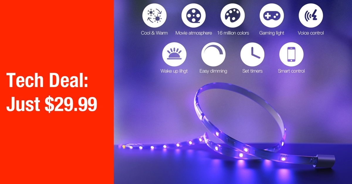 Tech deal this color changing apple homekit light strip is just 29 light bulbs and start putting gorgeous color changing light strips throughout the home as accent lighting or to draw attention to certain areas aloadofball Image collections