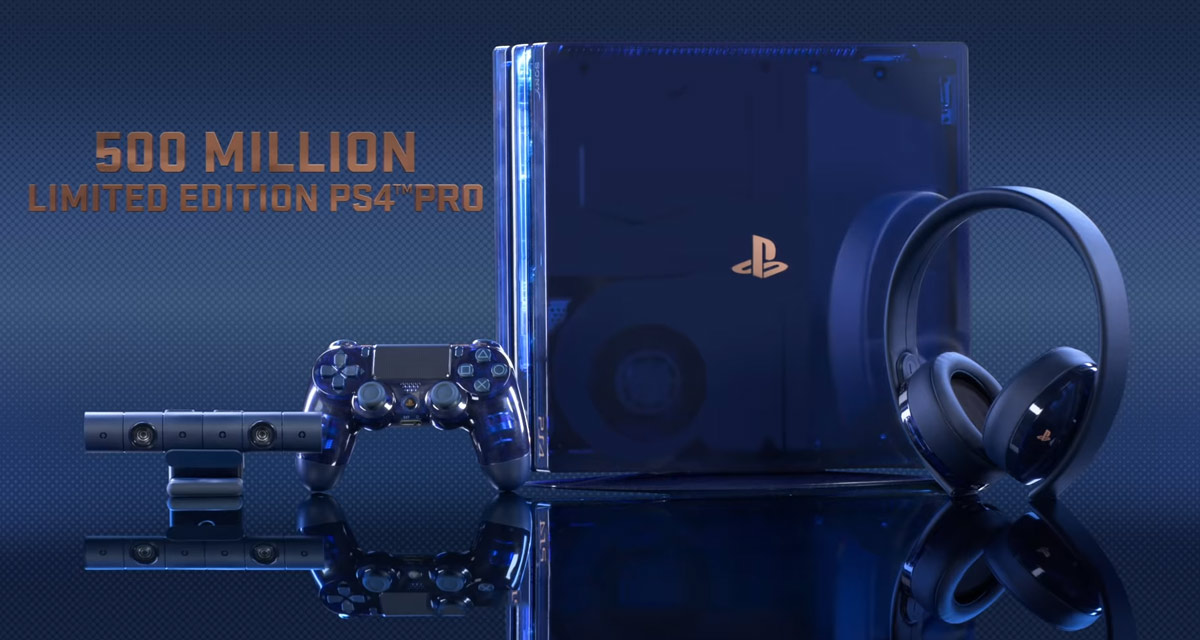 Sony's Limited Edition PS4 Pro Celebrates 500 Million Sales With Blue Translucent Casing, 2TB Storage, More