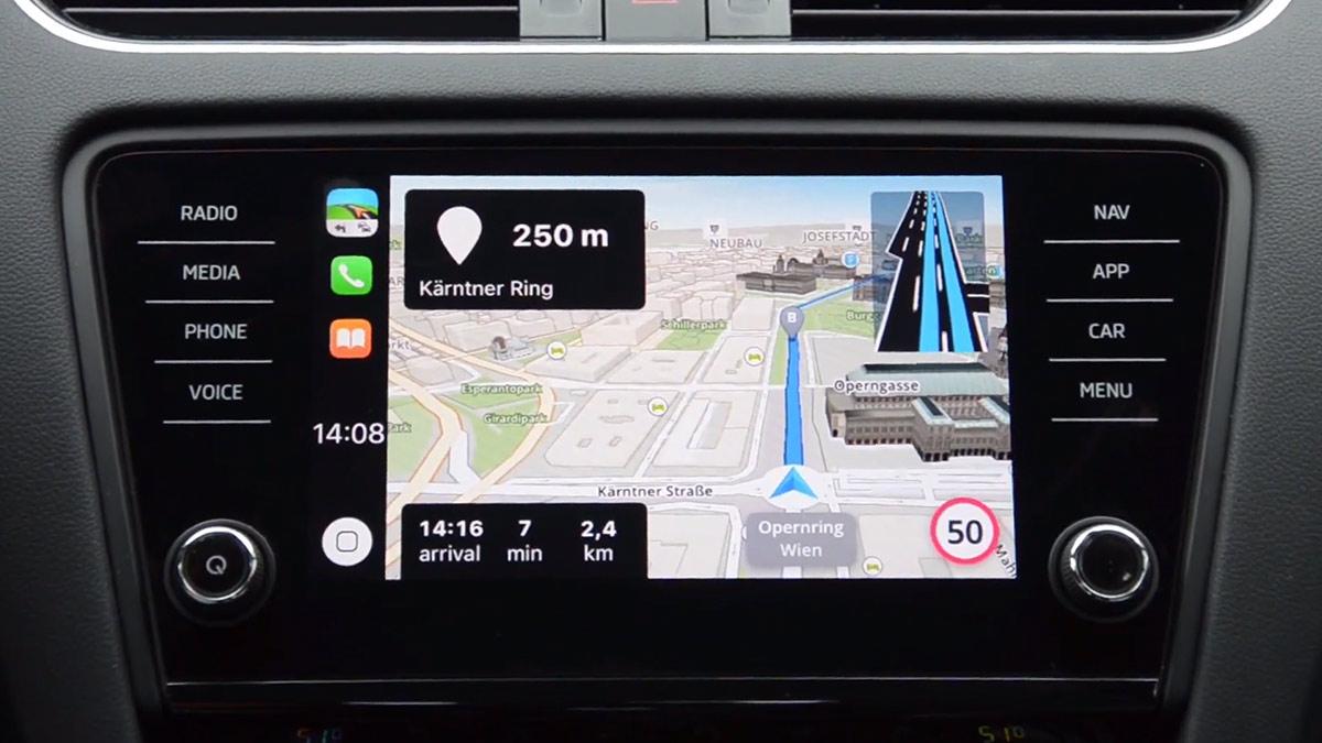 Sygic CarPlay iOS 12 App Demo Shows Lane Navigation And 3D