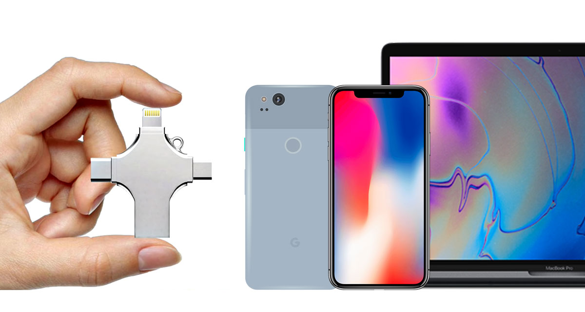 This 4-In-1 USB With Lightning, USB-C, USB-A, Micro USB Is