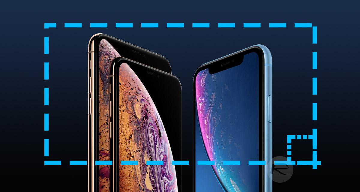 iphone xs screenshot machen