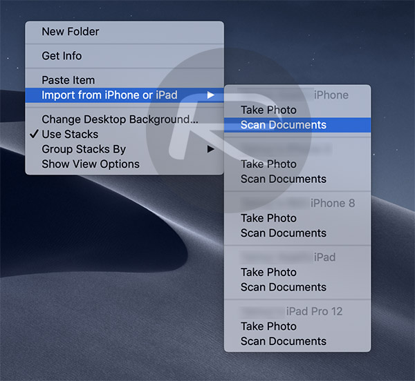 How To Scan Documents, Import Photos In macOS Mojave From