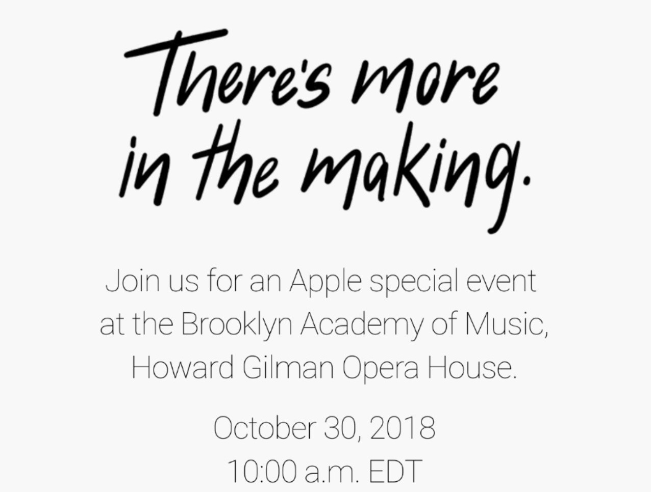 Apple announces October 30th NYC event, new iPads and Macs expected