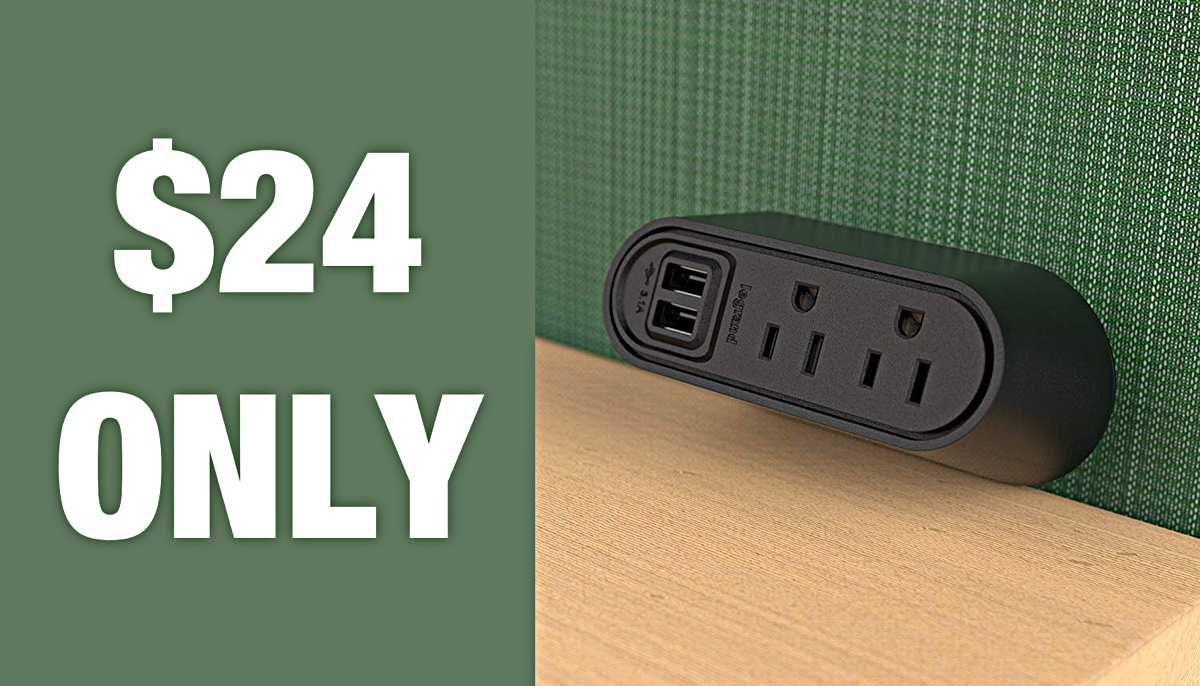 Hot Deal: This Desktop Charger With 2 AC Outlets + 2 USB Ports Is