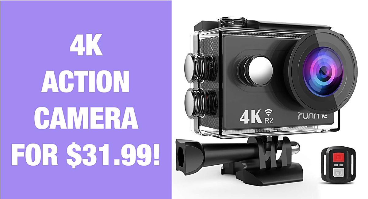 Super Hot Deal: 4K Capable Action Camera For Just $31 99