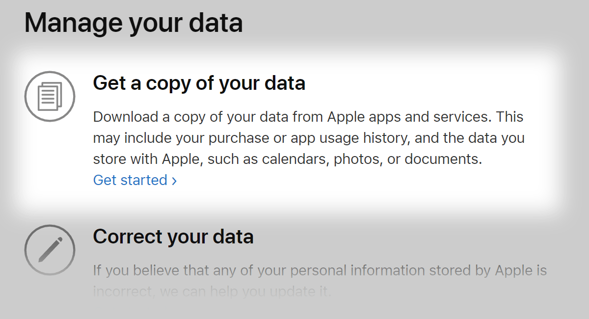 Apple just made all your data available to download