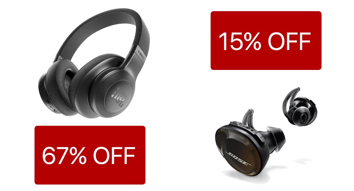 1489330cbf8 Black Friday Headphone Deals: 67% Off JBL Over-Ear, 15% Off Bose SoundSport  Truly Wireless Headphones