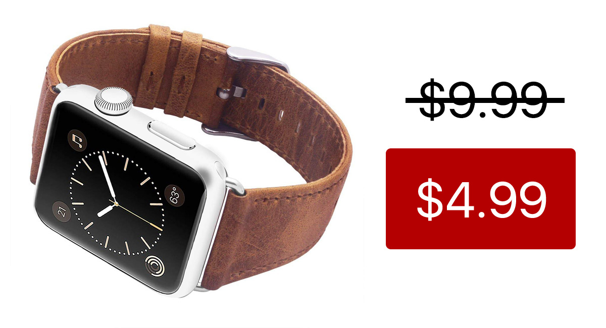 2b964200b Bring Some Personality To Your Apple Watch With This Genuine Leather Band  That Costs Just $5