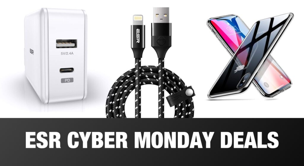 esr 39 s cyber monday sale is live with generous discounts on iphone xs cases usb pd chargers mfi. Black Bedroom Furniture Sets. Home Design Ideas