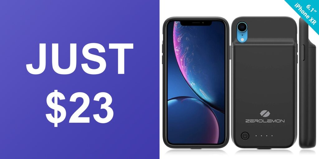 5dabcf23d21 Looking for a battery case for your iPhone XR  ZeroLemon makes one and it is  discounted to just  23. It usually costs  34.99 on a regular day.