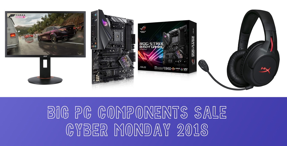 Cyber Monday 2018 Sale On Pc Components And Monitors Is