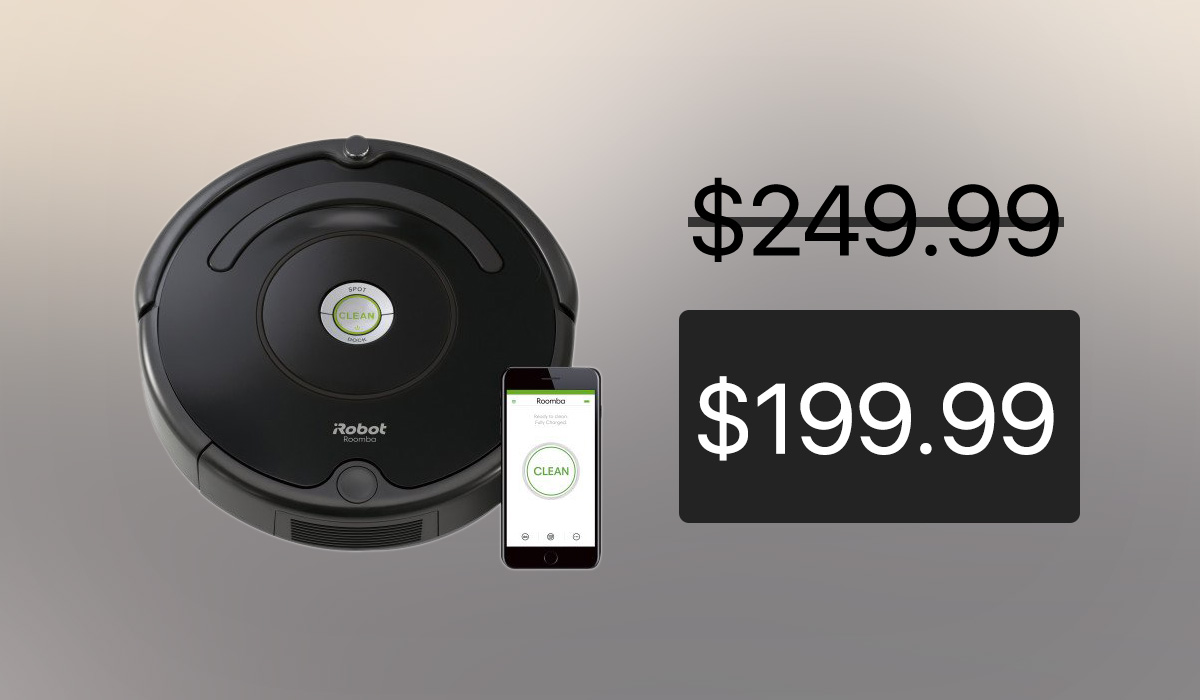 irobot roomba 675 with alexa support at its lowest price ever for black friday 20 off. Black Bedroom Furniture Sets. Home Design Ideas