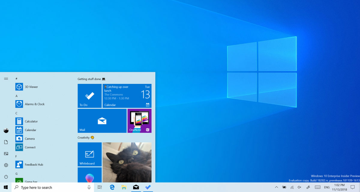 Windows 10 Light Theme Revealed In Insider Preview Build 18282
