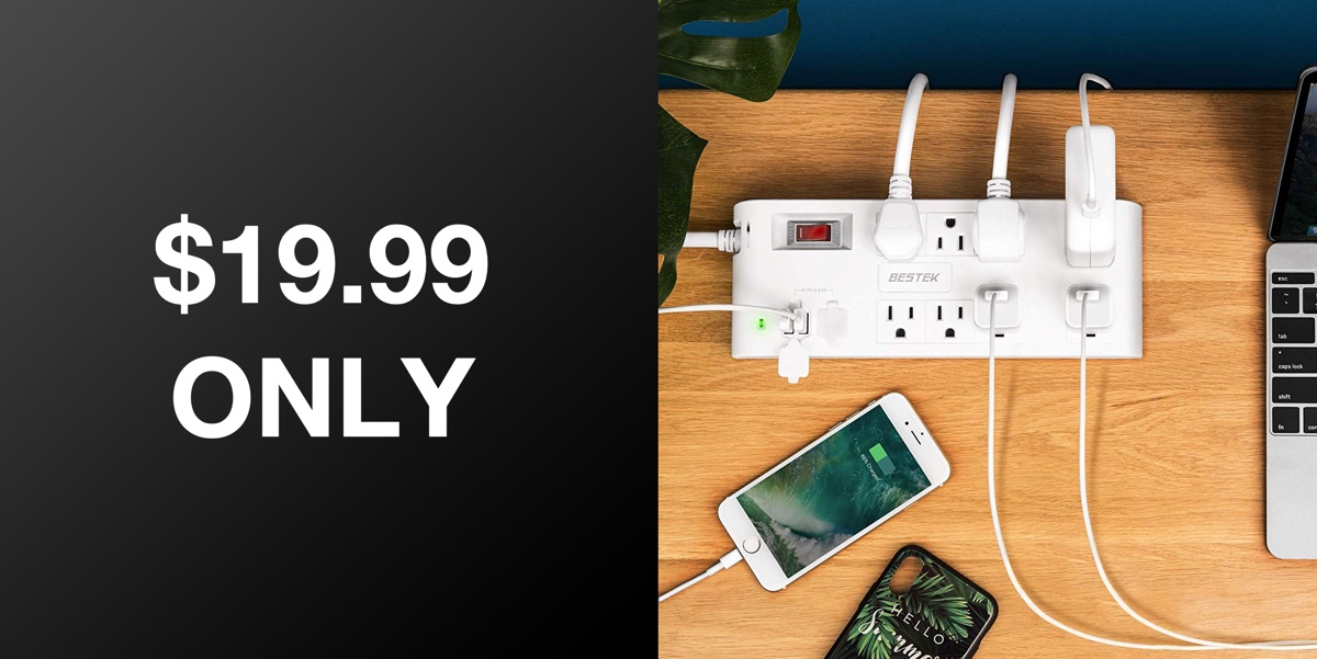 This Surge Protector Features 8 Ac Outlets 4 Usb Ports Just