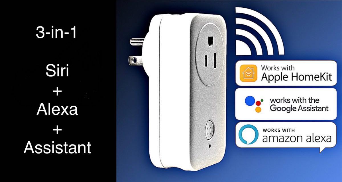WiFi Smart Home Plug Socket With HomeKit Siri, Alexa And