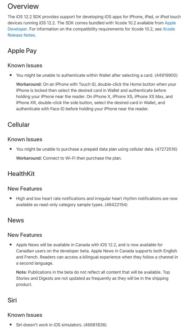 iOS 12 2 Beta 1 Release Notes, Changes, New Features