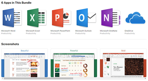 Download: Microsoft Office 365 Released On Mac App Store