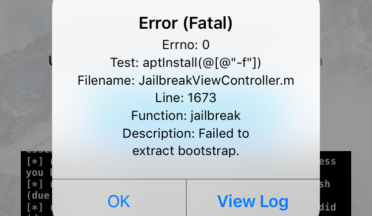 Fix Error (Fatal) During Unc0ver iOS 12 / 12 1 1 / 12 1 2 Jailbreak