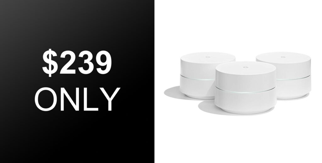 3 Pack Of Google Wifi Mesh System Is Down To Just 239