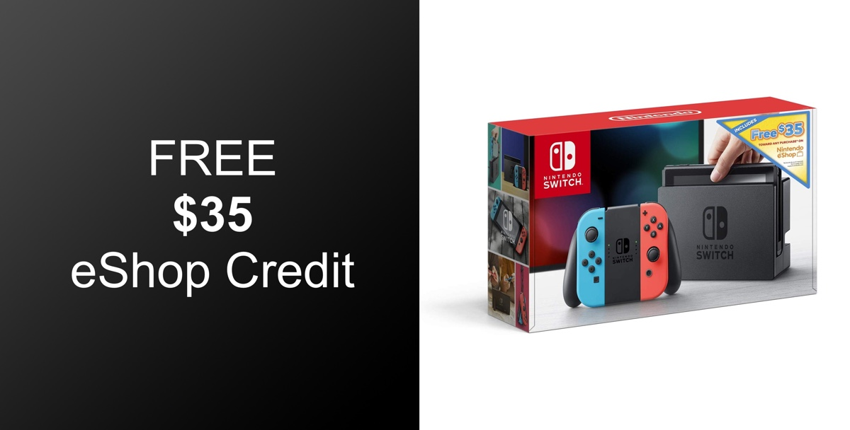 Hot Deal Buy Nintendo Switch Get 35 Eshop Credit Absolutely Free Redmond Pie