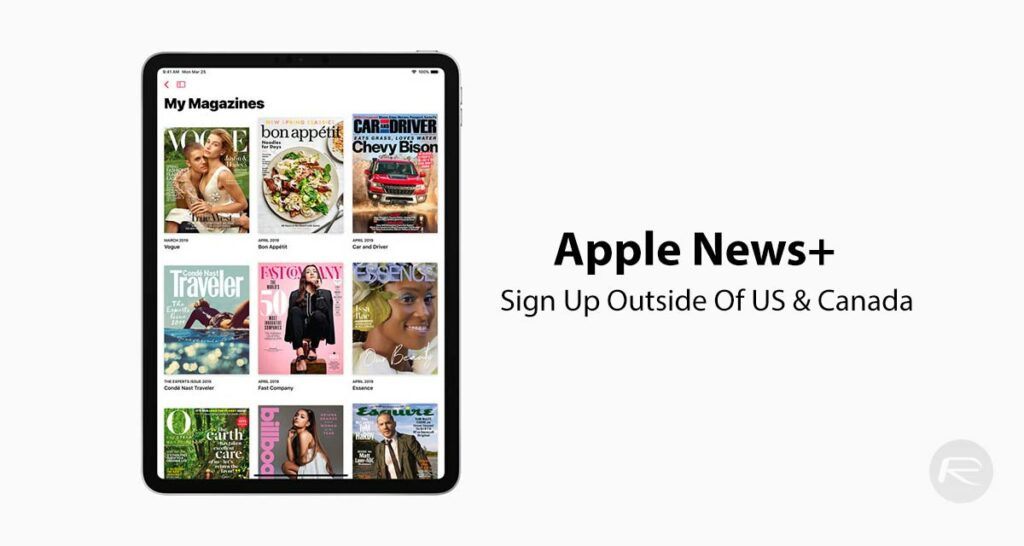 Sign Up For Apple News+ Outside Of US And Canada, Here's How