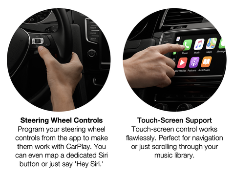 Apple Carplay Usb Dongle Adapter With Steering Wheel Control For Any