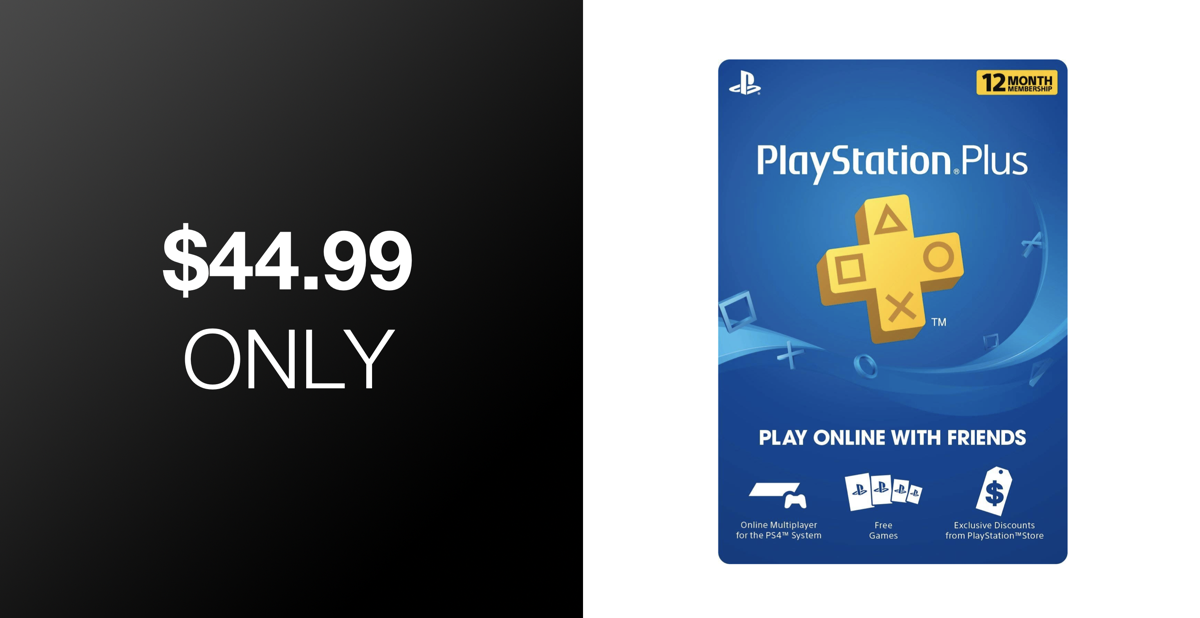 Hot Deal: Get A Year Of PlayStation Plus Membership For Just