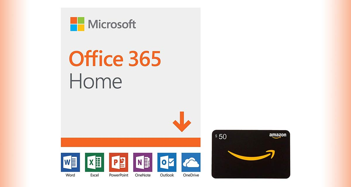 Get A Free $50 Amazon Gift Card With 1 Year Office 365 Home