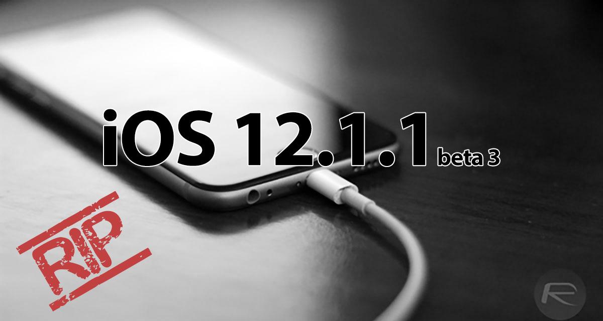 iOS 12 1 4 Jailbreak: Apple Kills iOS 12 1 1 Beta 3