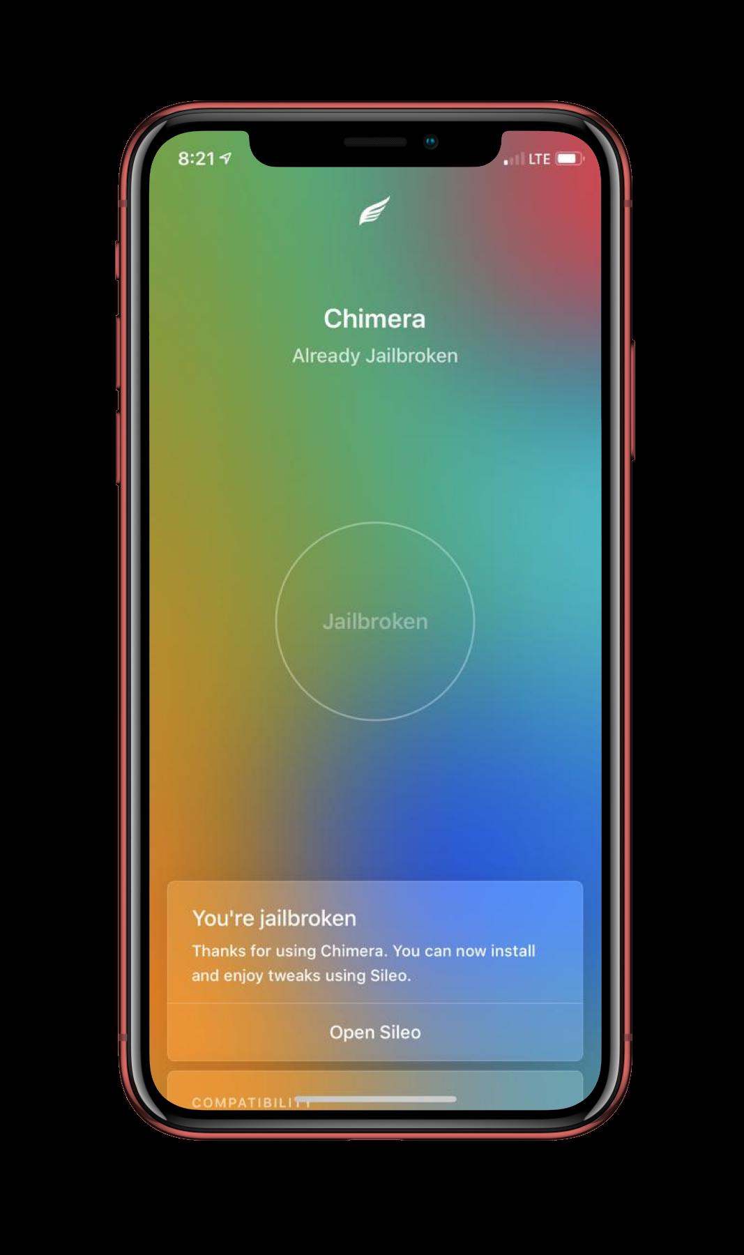 Chimera 1 0 2 IPA Download Of iOS 12 1 2 Jailbreak For