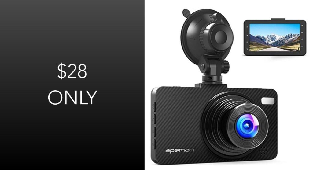 Apeman dashcam c450 rechargeable phone charger