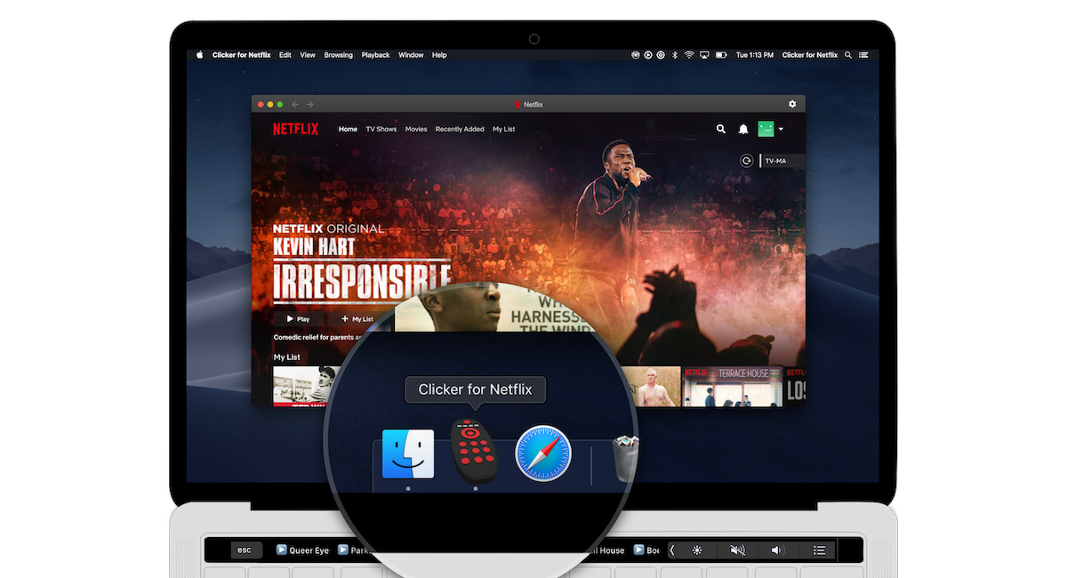 Clicker Is A No-Fuss Netflix App For Mac With Touch Bar