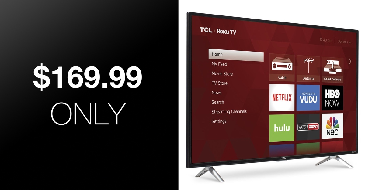 Hot Deal: 43-Inch Roku Smart TV With Full HD Panel For Just $169 99
