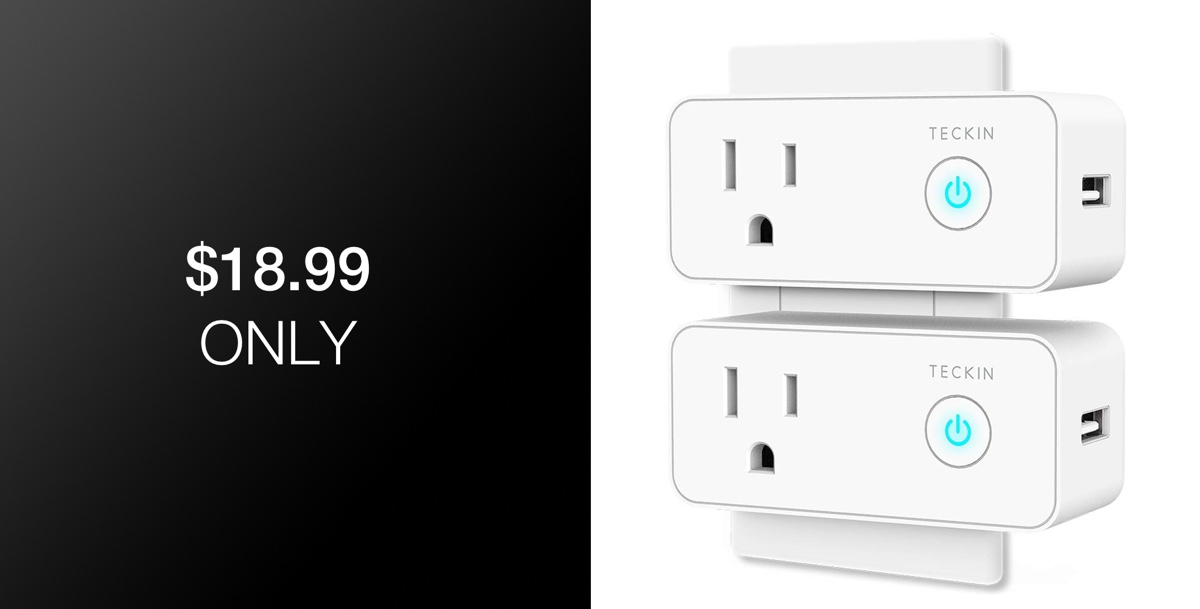 Deal Alert: 2-Pack Of WiFi Smart Plugs With Built-In USB