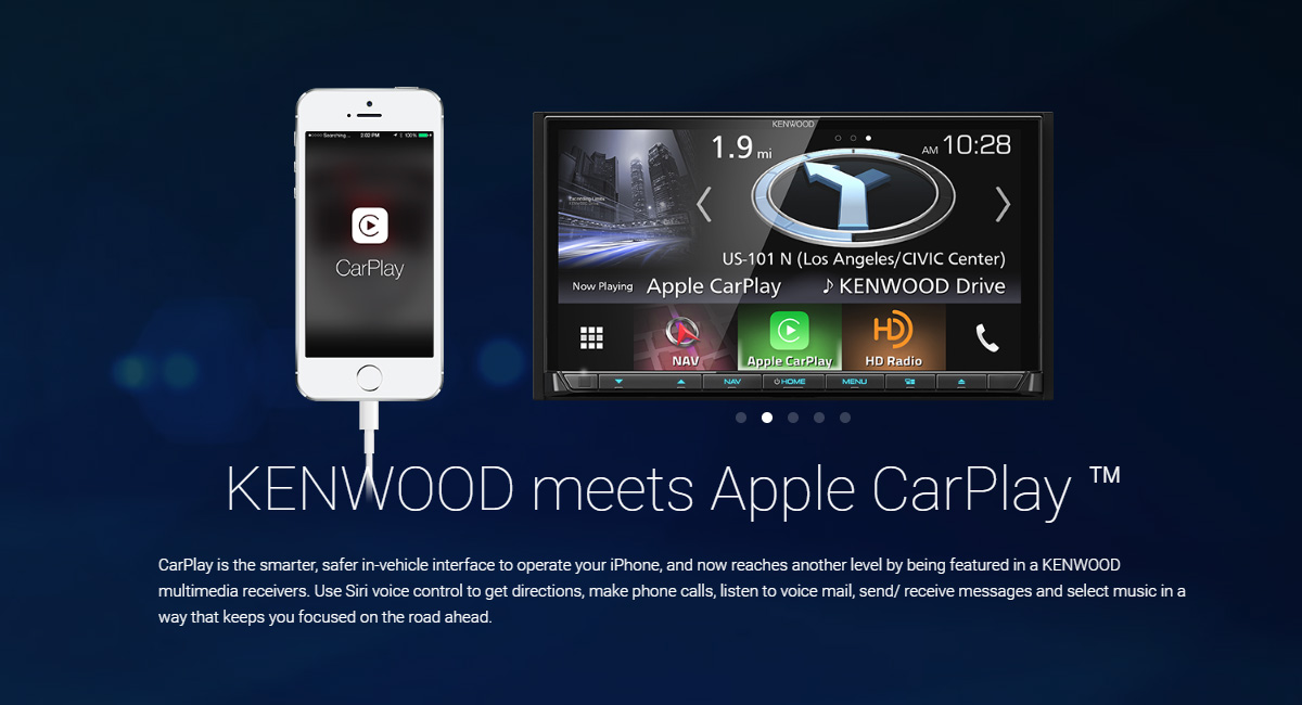 Kenwood Announces 5 Wireless And 2 Wired CarPlay Receivers
