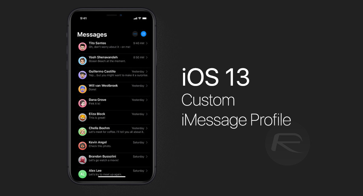 iOS 13: Set & Share Name And Photo In iMessage On iPhone Or iPad