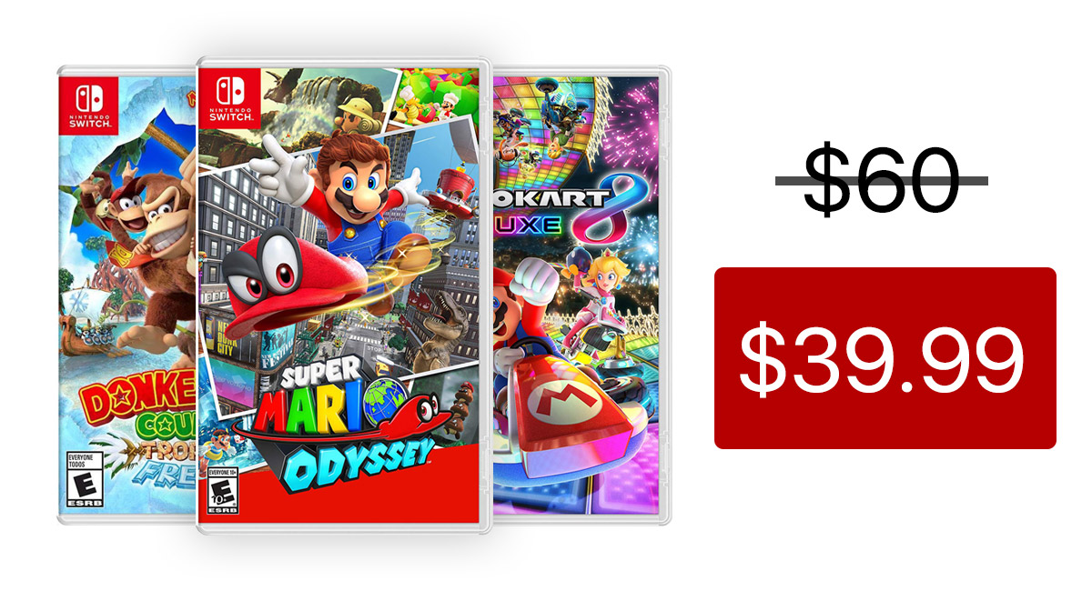 Game Deals Get Top 5 Nintendo Switch Titles For 39 A Piece Instant Digital Download Usually 60 Redmond Pie