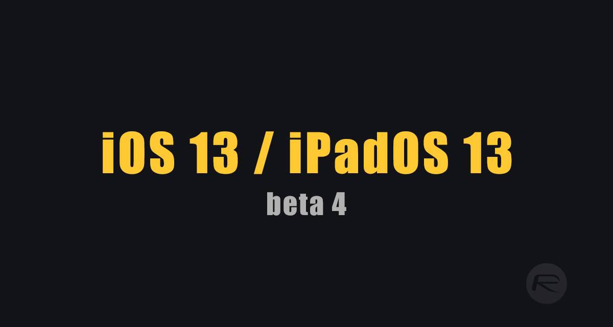 Download iOS 13 Beta 4 IPSW Links, OTA Profile Along With That Of