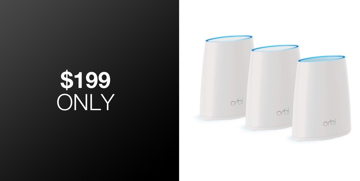 Cover Your Home In Solid WiFi With The Orbi Mesh System 3-Pack