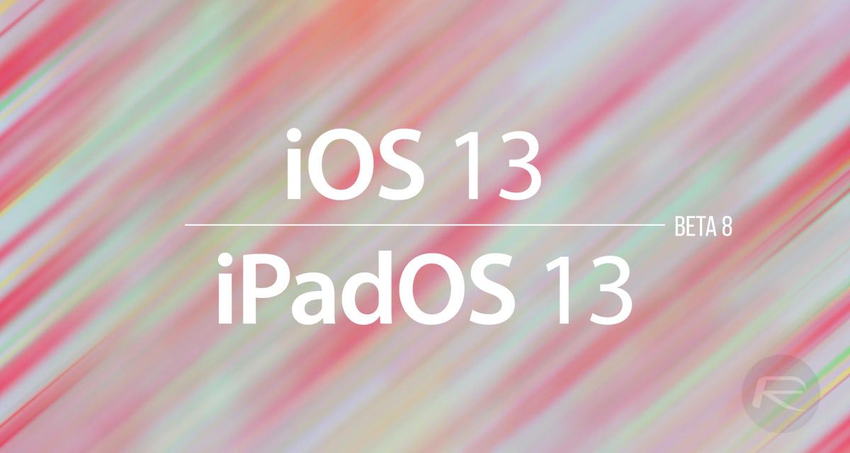 Download iOS 13 Beta 8 IPSW Links, OTA Update Along With