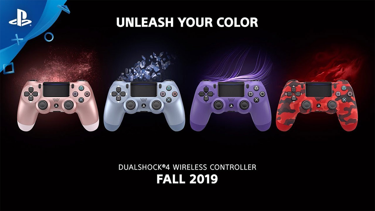 Sony Adds New Colors To PS4 DualShock 4 Wireless Controllers
