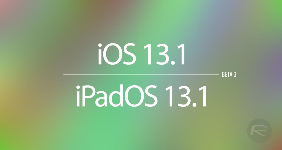 [iOS Beta] Đã có iOS 13.1 Beta 3, mời anh em tải về