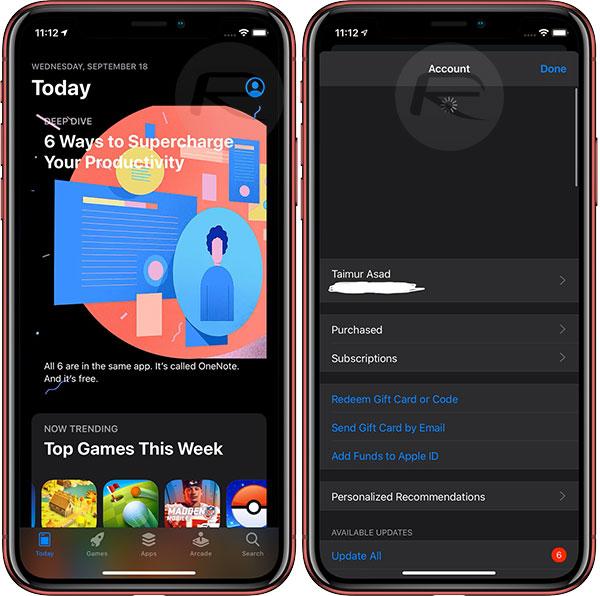update apps in ios 13
