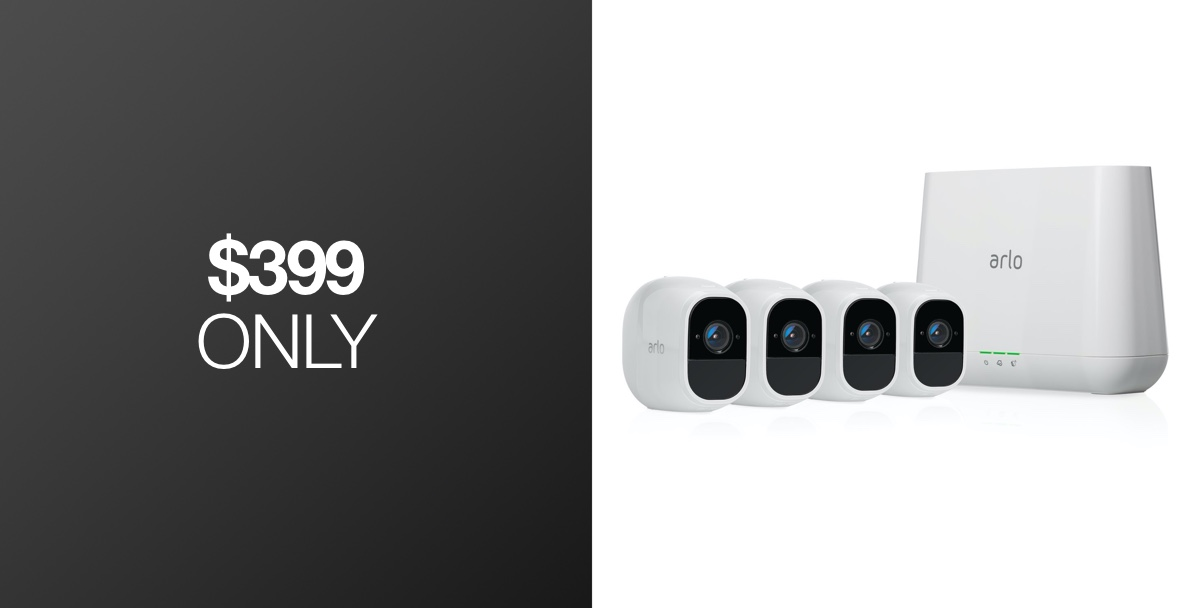 Black Friday Week Deal Arlo Pro 2 1080p Security System With 4 Wireless Cameras 160 Off Redmond Pie