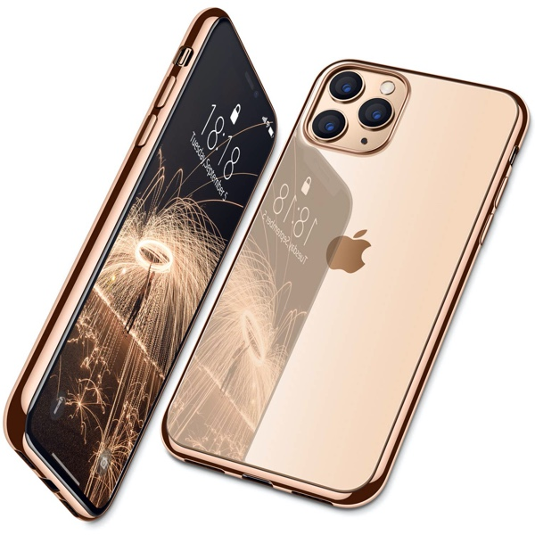 Gold iPhone 11 Pro Max Case, Lightning Cable, Wireless